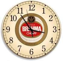 Relógio em MDF - Brahma Chopp  - 28 cm de diâmetro