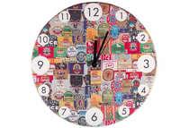 Relógio em MDF - Brands  - 28 cm de diâmetro