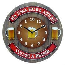 Relógio em MDF - Há uma hora atrás - 35 cm de diâmetro