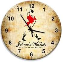 Relógio em MDF - Johnnie Walker - 28 cm de diâmetro