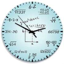 Relógio em MDF - Matemática - 28 cm de diâmetro