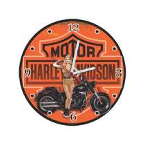 Relógio em MDF - Motor Harley Davidson