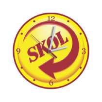 Relógio em MDF - Skol