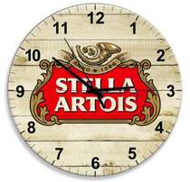Relógio em MDF - Stella Artois - 28 cm de diâmetro