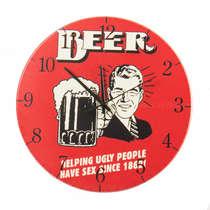 Relógio em MDF - Ugly People - 28 cm de diâmetro