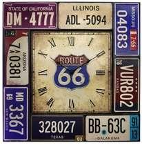 Relógio Metal Route 66 - 51 cm diâmetro