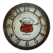 Relógio em Metal - Route 66 - 50 cm de Diâmetro