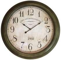 Relógio em Metal - Cafe Des Marguerites - 62 cm