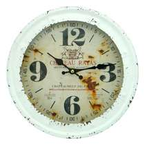 Relógio em Metal - Chateau Rayas - 28 cm de diâmetro