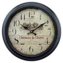 Relógio em Metal - Château la Claire 1672 - 37 cm de diâmetro