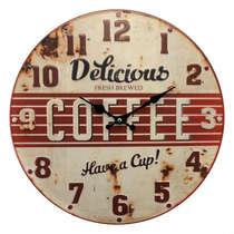 Relógio Metal - Delicious Coffee - 40 cm