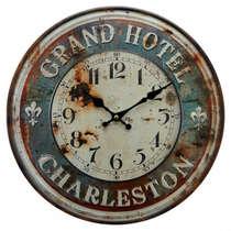 Relógio em Metal - Gran Hotel Charleston - 40 cm de Diâmetro