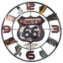 Relógio em Metal - Route 66 - 70 cm de diâmetro