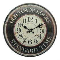 Relógio em Metal com alto relevo - Standart Time - 40 cm de Diâmetro