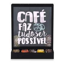 Suporte para Cápsulas de Café - Com café tudo é possível