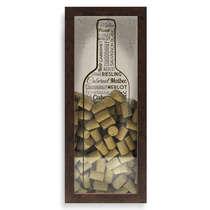 Quadro porta rolhas - Grande Vintage - 65x27 cm