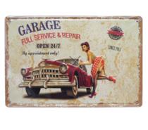 Placa Decorativa em metal 30x20 - Garage Service