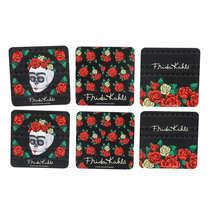 Conjunto de Porta Copos Frida Kahlo - Skull - 6 peças