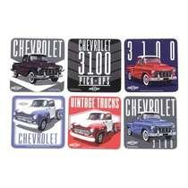 Conjunto de Porta Copos - GM 3100 Chevy Trucks  Coloridos - 6 unidades
