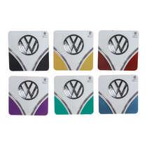 Conjunto de Porta Copos - VW Kombi Hood Colorido - 6 peças