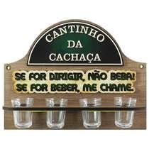 Suporte para copos de Cachaça - Se beber, me chame!