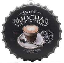 Tampa Decorativa Metal 40 cm - Caffé Mocha
