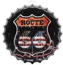 Tampa Decorativa Metal 40 cm - Route 66 R$ 69,90