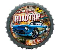 Tampa Decorativa Metal 50 cm - Road Trip
