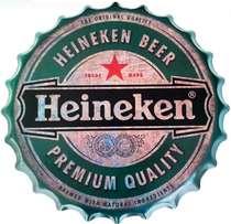 Tampa Metal 40 cm Heineken