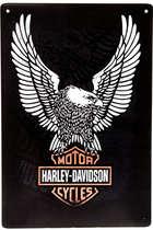 Placa Decorativa de Metal 30x40cm - Harley Davidson Águia