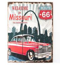 Placa madeira Welcome to Missouri - 40 x 30 cm