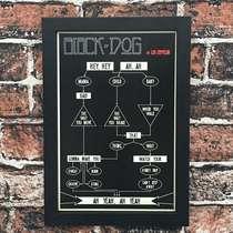 Quadro Black Dog  - Linha CDB Designer - 33x22 cm