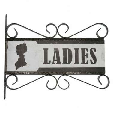Flange Decorativa de Metal 28,5 x 32,5 cm - Ladies
