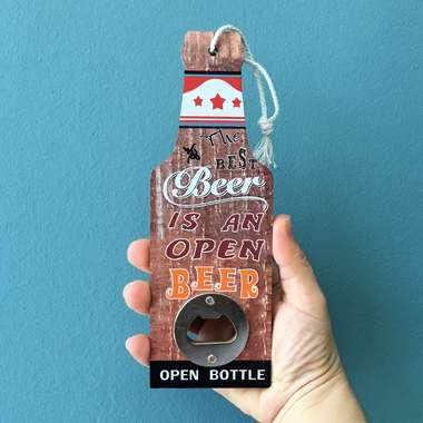 Abridor de Garrafas - Beer Open Bottle Brown - 7x20 cm