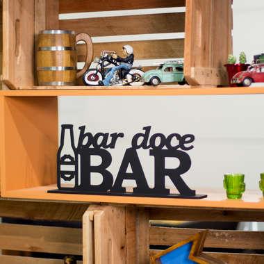 Palavra Decorativa - Bar Doce Bar - 18 x 45 x 6 cm