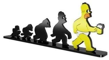 Adorno Decorativo MDF Pintura Laca - Simpsons