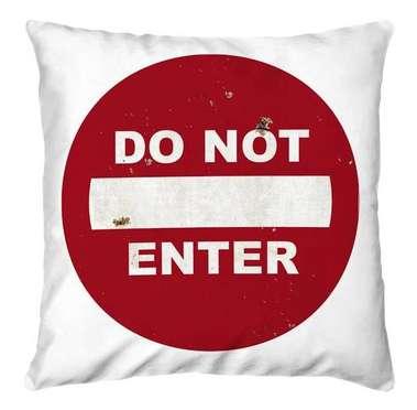 Almofada Do Not Enter 45x45cm - Almofada + Capa