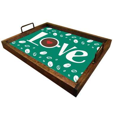 Bandeja Decorativa de Azulejos - We Love Coffee - 43 x 33 cm