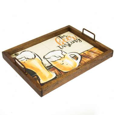 Bandeja de Azulejo Beer tasting  46x35 cm