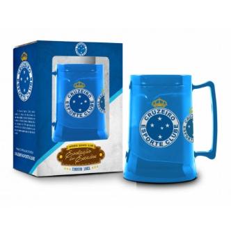 Caneca Cerveja Gel Congelante - Cruzeiro 450ml - Oficial