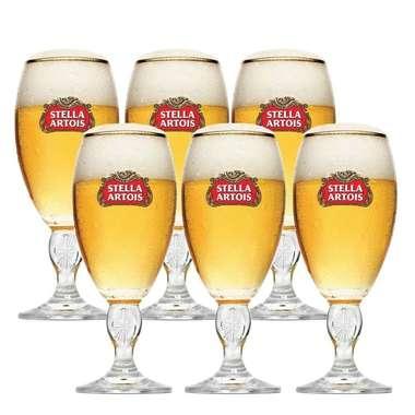 Cálice para cerveja Stella Artois 250ml  - 6 unid.