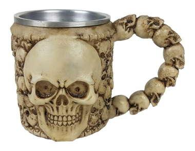 Caneca Resina/Inox Cerveja Bones - 450 ml