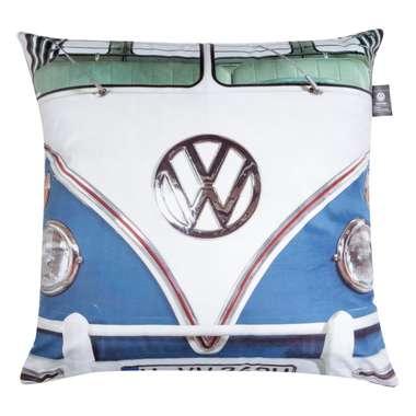 Capa de Almofada Kombi Azul e Branco - Volkswagen Coleção Oficial 45x45cm