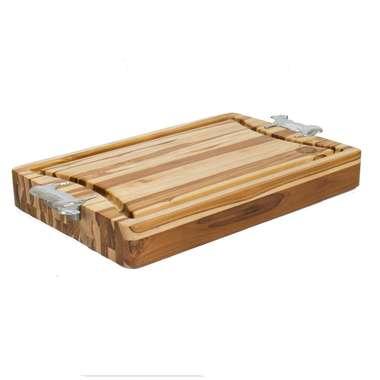 Cepo para churrasco madeira TECA Super Premium Médio- 40x60x7cm