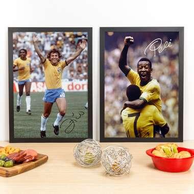 Kit Especial - Quadros Ídolos do Futebol - 45 x 33 cm