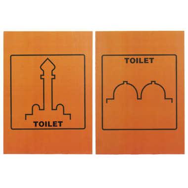 Conjunto Placas de Banheiro em MDF - Árabe