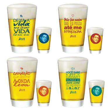 Conjuntos de 4 copos Caldereta - Zeca Pagodinho 300 ml