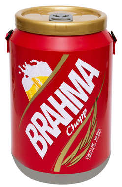 Cooler para 24 latinhas - Brahma Vermelho
