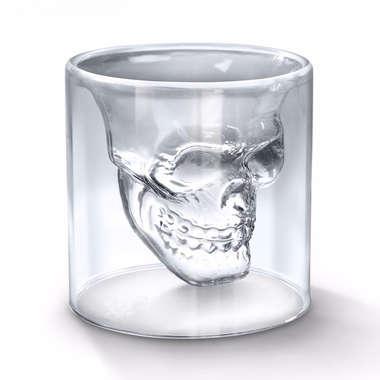 Copo de Vidro Borossilicato Caveira - 150 ml