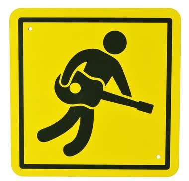 Placa MDF Rock'n'roll here